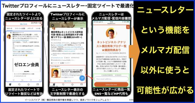 Twitterプロフィールをニュースレター・固定ツイートで最適化